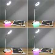 Colorful LED Charging Touch Lamp Bed Table Light Eye Care Reading Children World