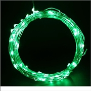 12V 10M Copper Wire LED String Light-Green Color
