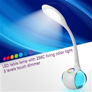 256C living color light touch dimmer modern LED table lamp