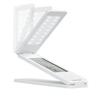 portable & foldable & rechargeable led table lamp with LCD calendar
