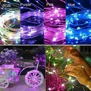 12V 10M Copper Wire LED String Light-Multi Color